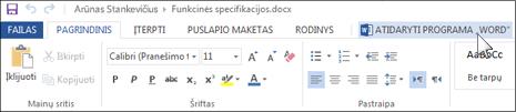 """Visos """"Office"""" taikomosios programos atidarymas vietoj """"Office Online"""""""
