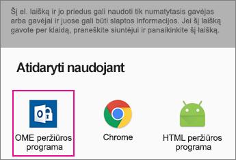 """OME peržiūros programa su """"Gmail"""" naudojant """"Android 2"""""""