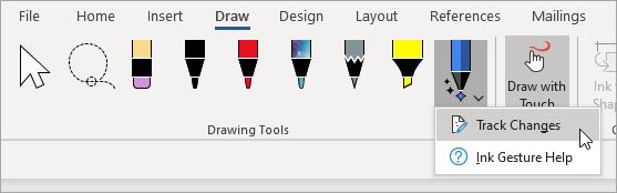 Pasirinkite rankraščio rengyklės rašiklio keitimų sekimas.