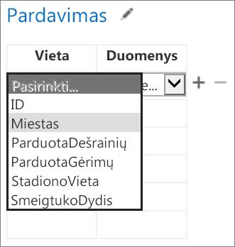 """""""Office"""" taikomajai programai skirtų duomenų pasirinkimas """"Access"""" taikomojoje programoje"""