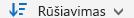 """""""OneDrive"""" verslui rūšiavimo mygtukas"""