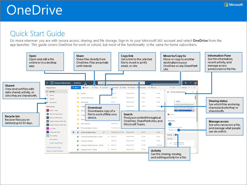 """""""OneDrive"""" greito pasirengimo darbui vadovas"""