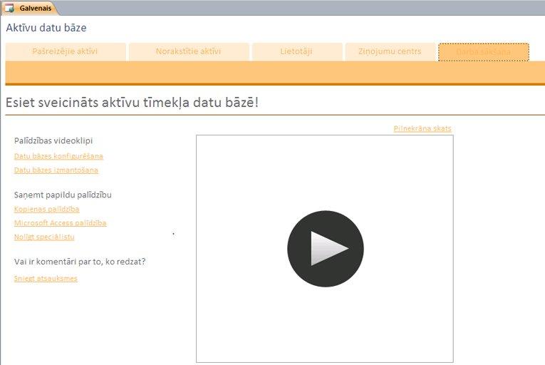 Aktīvu tīmekļa datu bāze
