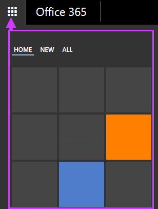 Office 365 navigācijas opcijas