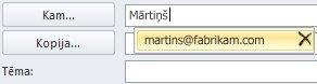 Automātiskās pabeigšanas saraksts ar ikonu Dzēšana