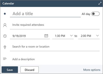 Ātra ziņojuma izveide programmā Outlook tīmeklī