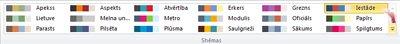 Papildu krāsu shēmas programmā Publisher 2010