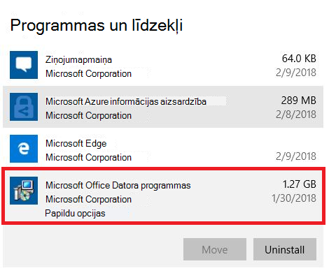Microsoft Office datora programmas
