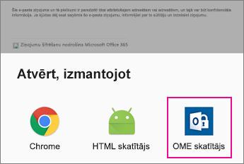 OME skatītājs ar Android e-pasta programmu 2