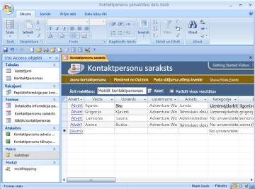 Kontaktpersonu pārvaldības datu bāzes