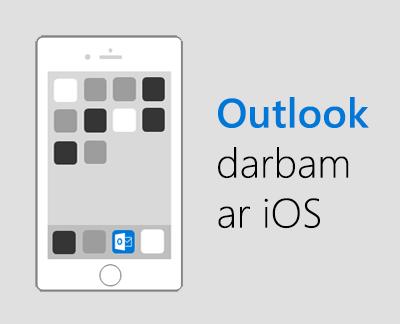 Noklikšķiniet, lai iestatītu programmu Outlook darbam ar iOS