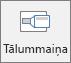 Cilnē ievietošana programmā PowerPoint, tiek rādīts tālummaiņas pogas.