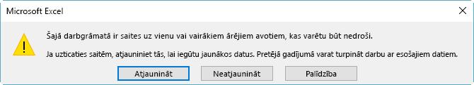 Bojātu atsauču dialoglodziņš programmā Excel