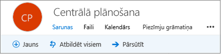 Tas ir kā grupas galvenē izskatās programmā Outlook tīmeklī