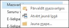 Pārvaldīt mazsvarīgo e-pastu