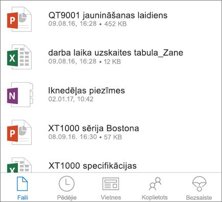 Mobilā programma OneDrive