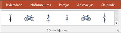 3D modeļu skatu galerija piedāvā dažus ērtus sākotnējos iestatījumus, lai izkārtotu 3D attēla skatu
