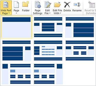 Lapu pievienošana programmā SharePoint Designer2010