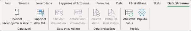 Excel datu Streamer lentes cilne