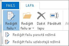 Poga Rediģēt failu