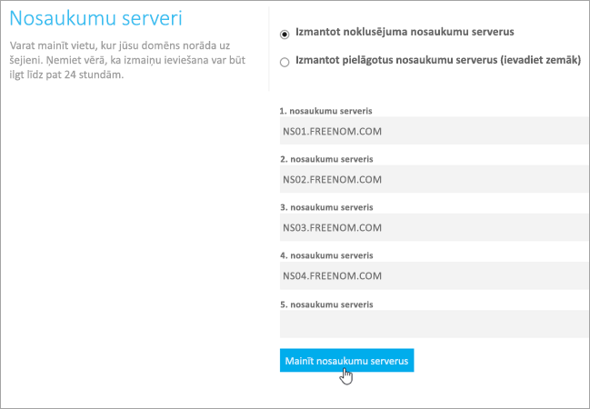 Freenom mainīt Nameservers_C3_20176171419