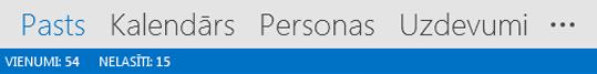Outlook navigācijas josla