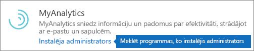 Administrators instalēja pievienojumprogrammu Outlook veikalā.