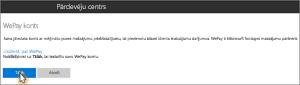 Ekrānuzņēmums: WePay konta iestatīšana programmā Microsoft Bookings