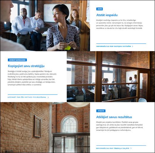 SharePoint Hero tīmekļa daļa