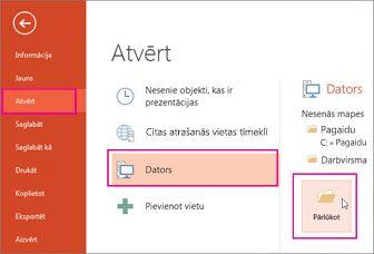 PowerPoint veidnes ielāde un lietošana