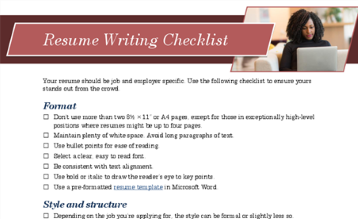 CV rakstīšanas kontrolsaraksts