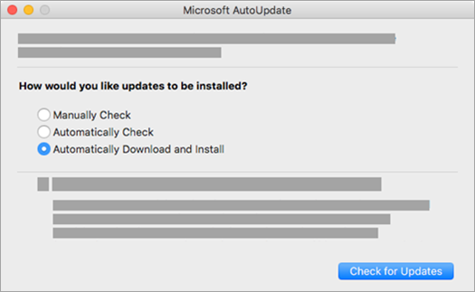 Microsoft AutoUpdate darbam ar Mac