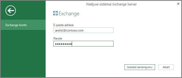 Exchange akreditācijas dati