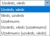 Personas, kas rāda rakstīt failā kā pasūtījuma saraksta opciju Outlook opcijas.