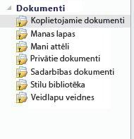 SharePoint darbvietas sarakstiem pievienota ikona Nesinhronizēts
