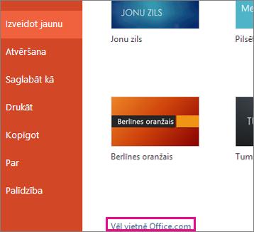 Papildinformācija vietnē Office.com