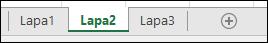 Excel darblapas ciļņu attēls