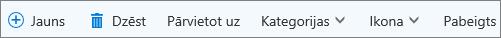Outlook.com uzdevumu komandjosla
