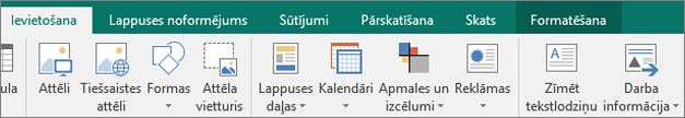 Noklikšķināšana uz darba informācija