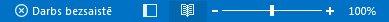 Norāde Darbs bezsaistē programmas Outlook statusa joslā