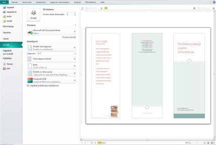 publisher drukas iestatījumu pārskats