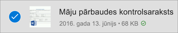 OneDrive fails, kas atzīmēts izmantošanai bezsaistē