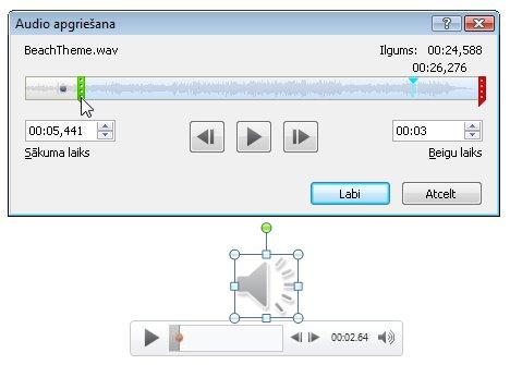 audioklipa apgriešana