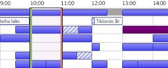 Outlook aizņemtības grafiks