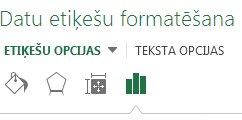 Rūts Datu etiķetes formatēšana