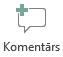 Pogas ievietot komentāru programmā PowerPoint Online