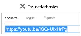"""Ja jūsu iegulšanas kods sākas ar """"http"""", video netiek iegults sekmīgi."""