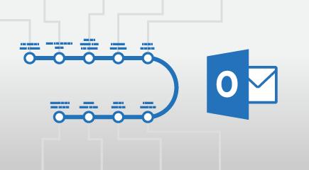 Outlook 2016 apmācības plakātu