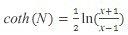 hiperboliskā arkkotangensa formula