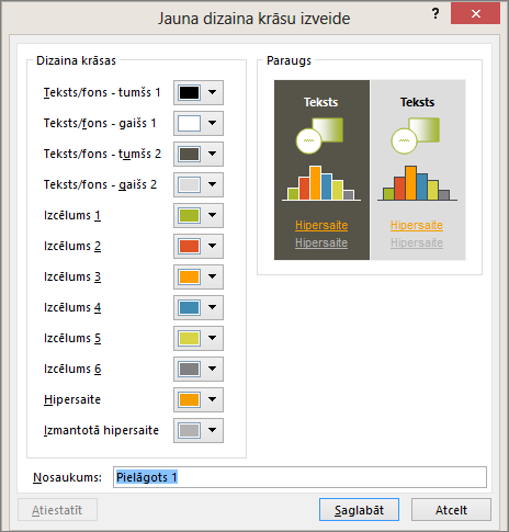 shows custom theme color dialog in PowerPoint